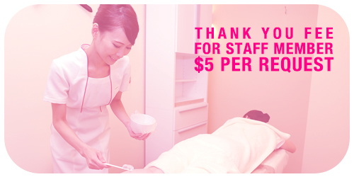 hair removal pricing for staff request