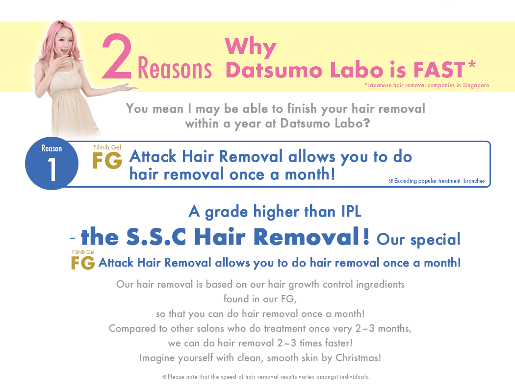 What did Xiaxue lose? 2 reasons why Datsumo Labo is faster than other hair removal services.