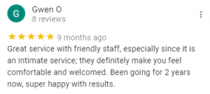 Review: Great service with friendly staff,