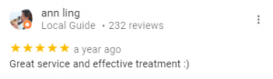 Review: Great service & effective treatment :)